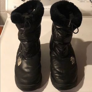 The North Face Black Quilted Down Boots